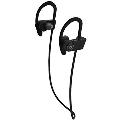 RMT-ST-U8 iPhone対応 防水ワイヤレスイヤホン (iPhoneバッテリーモニター/アイフォンミュージックイコライザ対応) 両耳タイプマイク付きイヤフォン iPhone5 / iPhone6 / iPhone7対応
