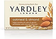 Yardley Oatmeal and Almond Bar Soap, Oatmeal & Almond, 4.25 Ounce (Pack of