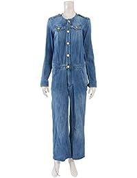 (エトワールイザベルマラン) ETOILE ISABEL MARANT デニム オールインワン 青 裾カットオフデザイン 中古