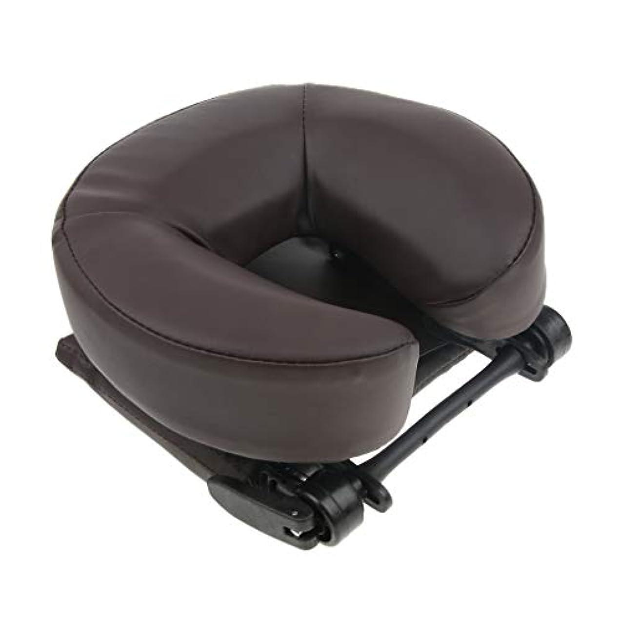 変色するチーター実験室D DOLITY マッサージ用クッション ネックピロー 携帯枕 首枕 顔枕 寝枕 首枕 洗濯可能なカバー 2色選ぶ - コーヒー