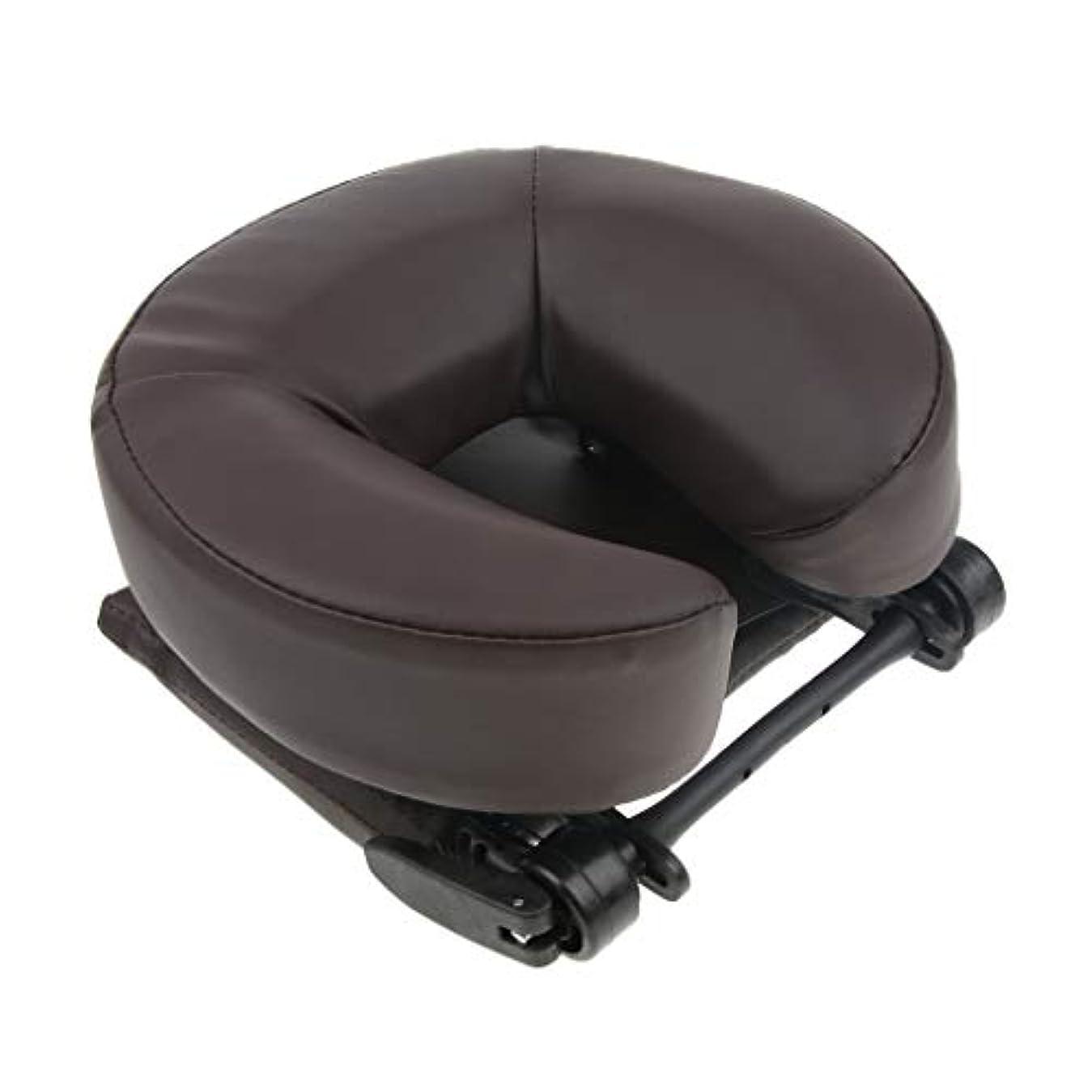 D DOLITY マッサージ用クッション ネックピロー 携帯枕 首枕 顔枕 寝枕 首枕 洗濯可能なカバー 2色選ぶ - コーヒー