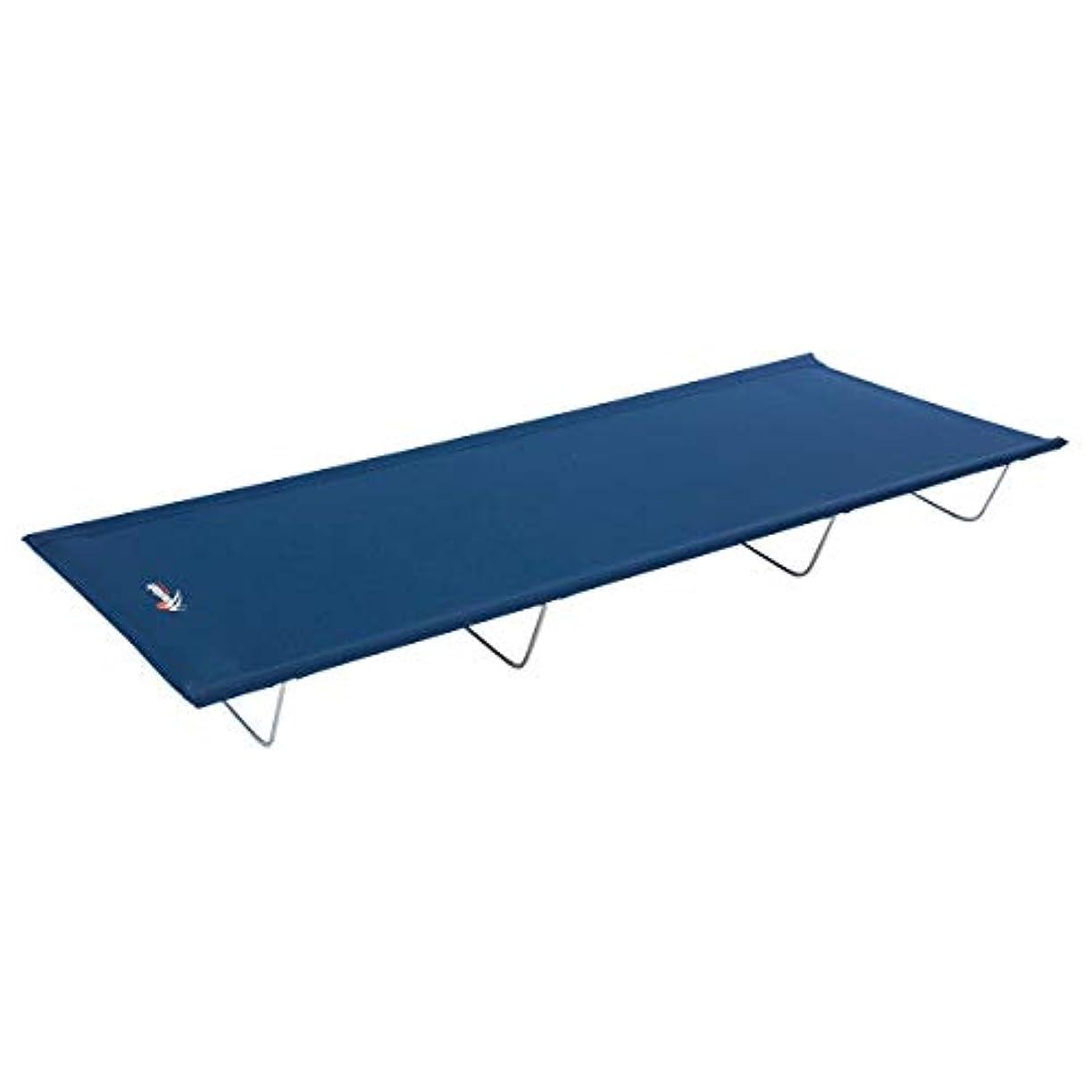 代理店信じる放課後MISC キャンプ用折り畳み式キャンプ用ベッド ブルー 折りたたみ式 軽量 コンテンポラリーグレー ブラック スチールポリエステル