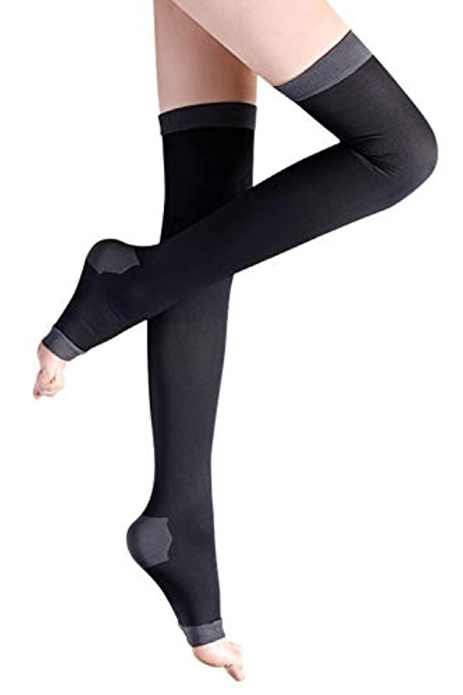 シンプルさ十十着圧ソックス レディース ロング 健康?美容ソックス 着圧 靴下