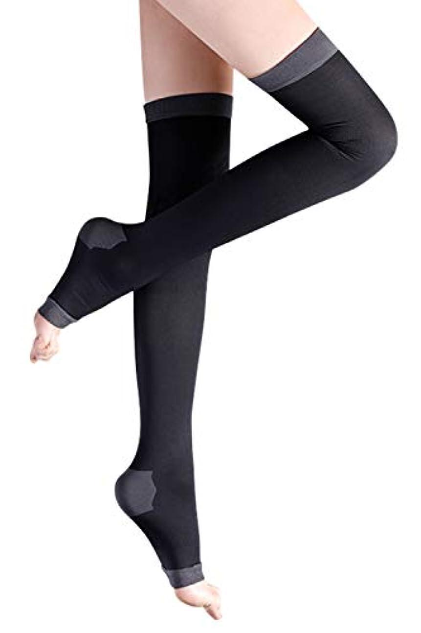 分析的な失磁器着圧ソックス レディース ロング 健康?美容ソックス 着圧 靴下