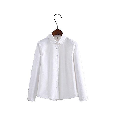 YideaHome レディースシャツ Yシャツ ブラウス ワイシャツ 無地 シンプル スリム 長袖 フォーマル ビジネス 清楚 制服 OL