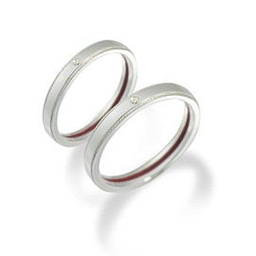 【LOVERS SCENE】 シルバー ペアリング 赤い糸 で 繋がる カップル 2個セット 【LSR0112DRM-PAIR】