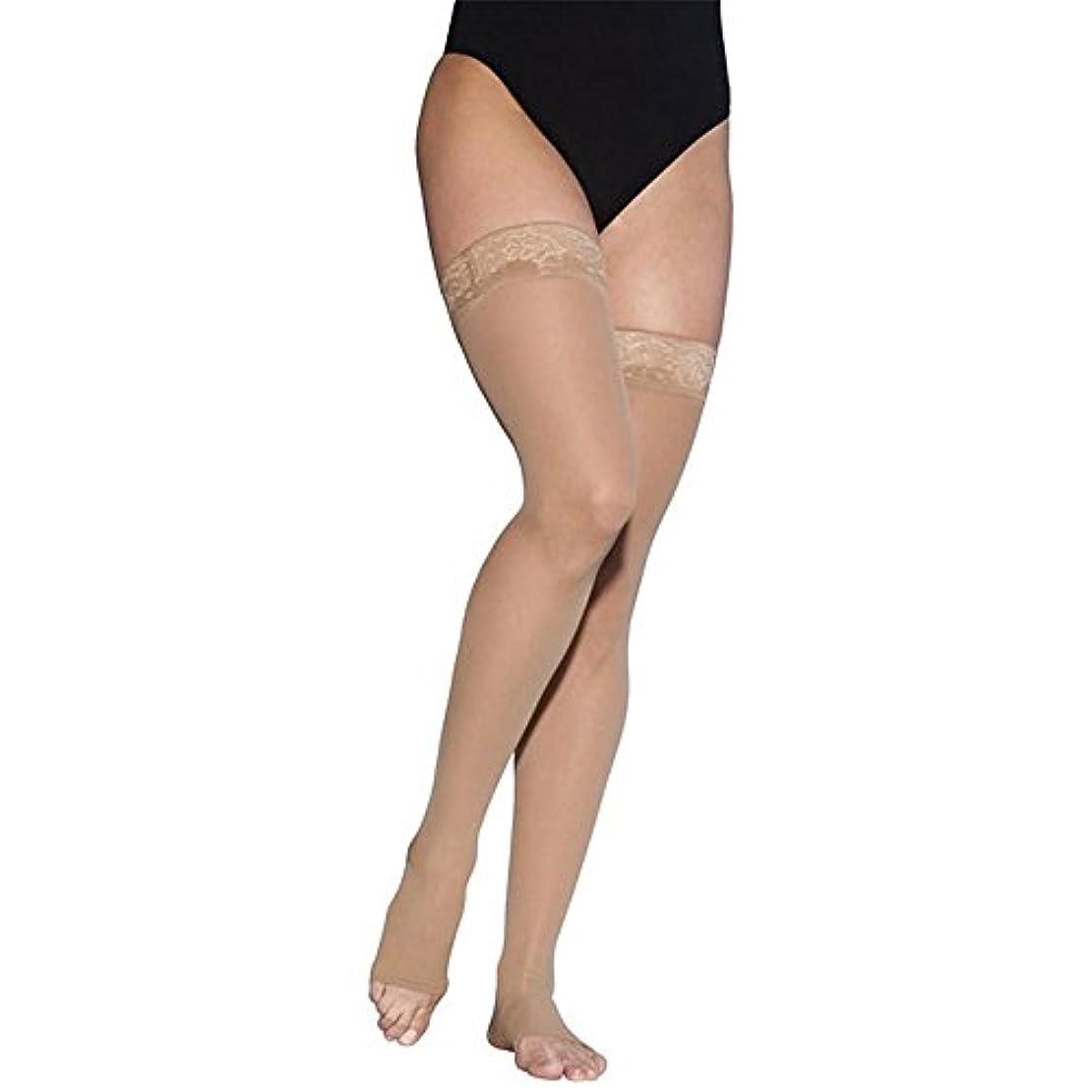 アーティファクトオピエート絡まるSigvaris EverSheer 781NMSO33 15-20 Mmhg Open Toe Medium Short Thigh Hosiery For Women, Natural by Sigvaris