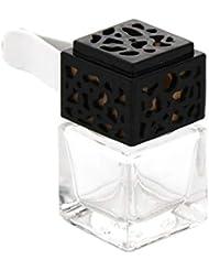 amleso 香水ボトル 香水瓶 エッセンシャルオイル ペンダント フレッシュナー 詰め替え 装飾 全3色 - ブラック