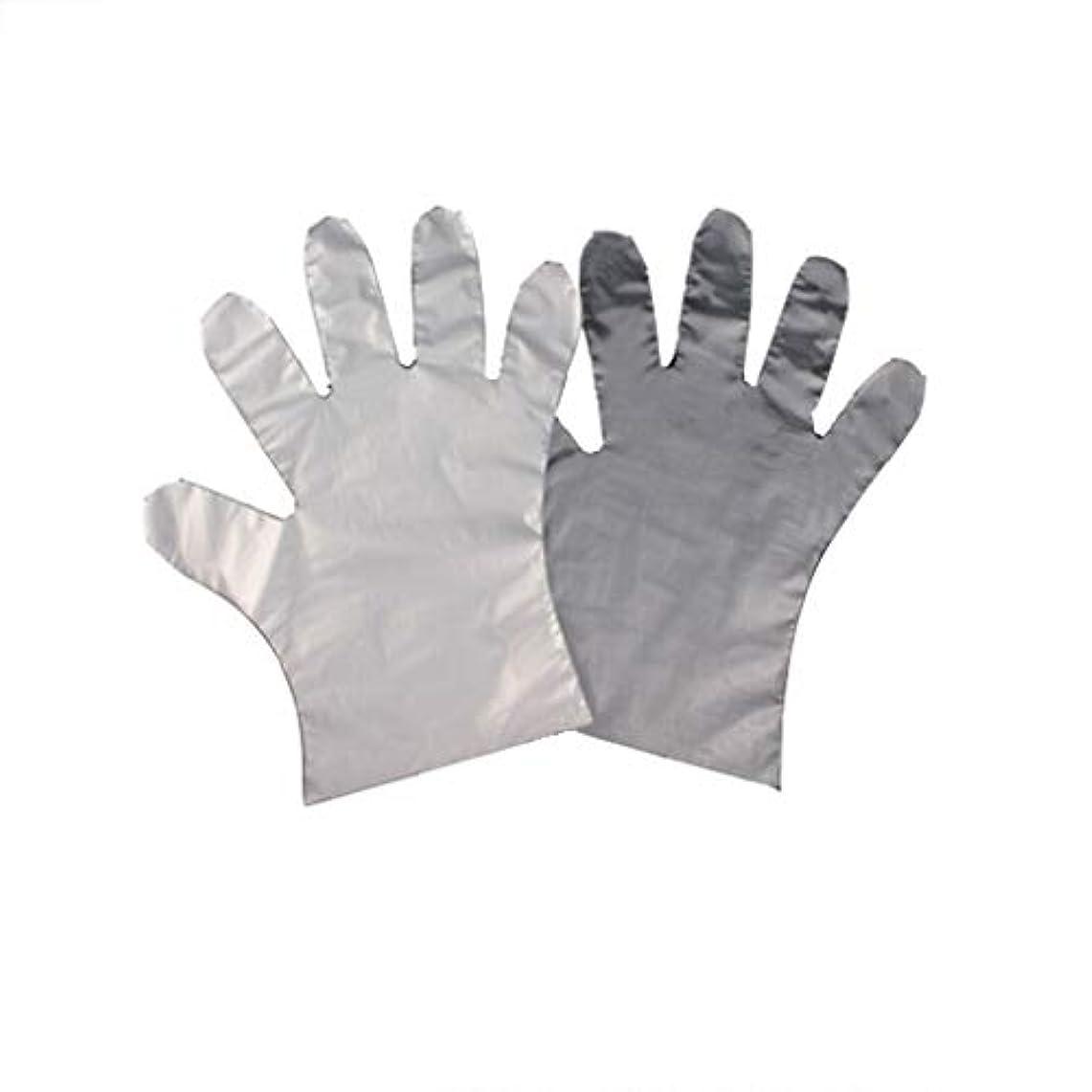 騒焦がすサッカー手袋、使い捨てPE手袋、食品の肥厚、透明な2つのオープンポケット-600のみ。