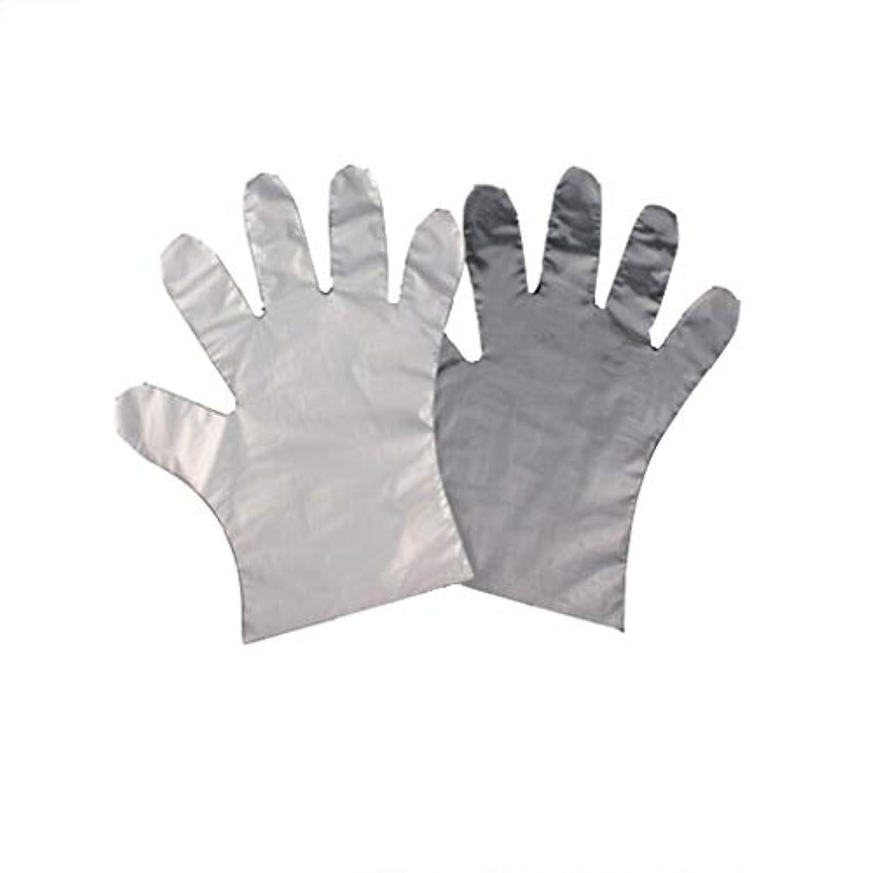 我慢するさわやか含意手袋、使い捨てPE手袋、食品の肥厚、透明な2つのオープンポケット-600のみ。