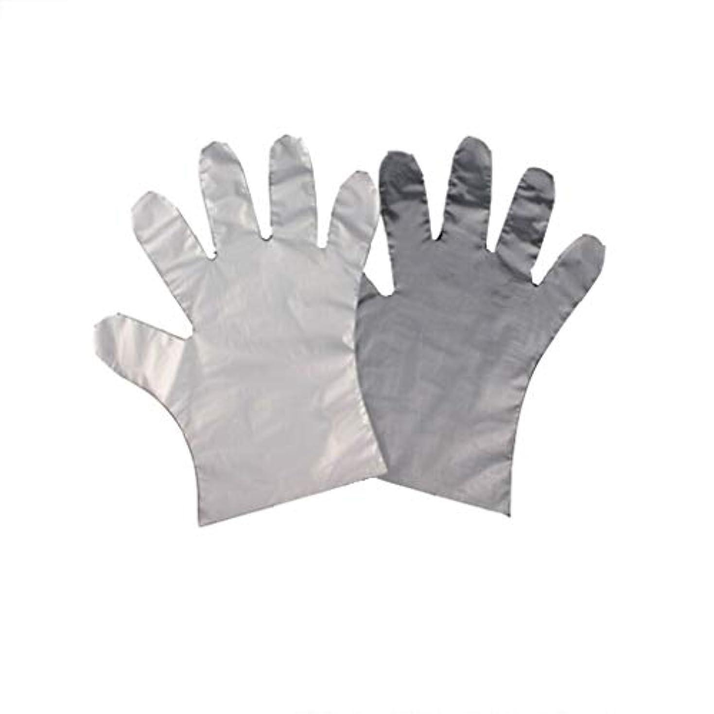 ダーツ哲学的赤手袋、使い捨てPE手袋、食品の肥厚、透明な2つのオープンポケット-600のみ。
