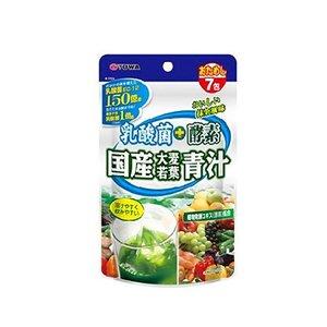 ユーワ 乳酸菌+酵素 国産大麦若葉青汁 3gX7