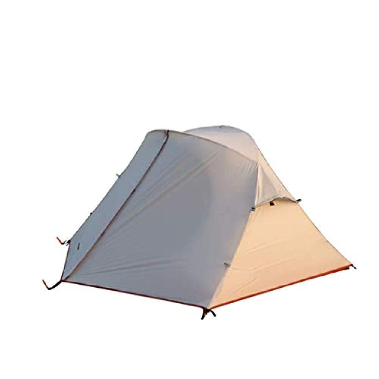 少ない大工まぶしさバックパックテント軽量登山二重層テントアルミロッド付き屋外の家族のビーチのために耐候性が高い狩猟ハイキング簡単なクイックセットアップ3-4シーズン