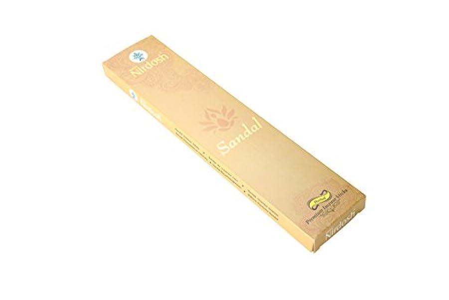 関数不和豆Nirdosh Premium Herbal Incense Sticks – Naturalサンダル味100 g。12インチLong ( Pack of 2 ) with 1 Free木製お香ホルダー