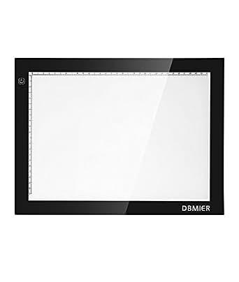 トレース台 Dbmier LED 漫画ライト【新モデルA4-200】【薄型8mm】(37.2*27.8*0.8 cm)【三段階調光】