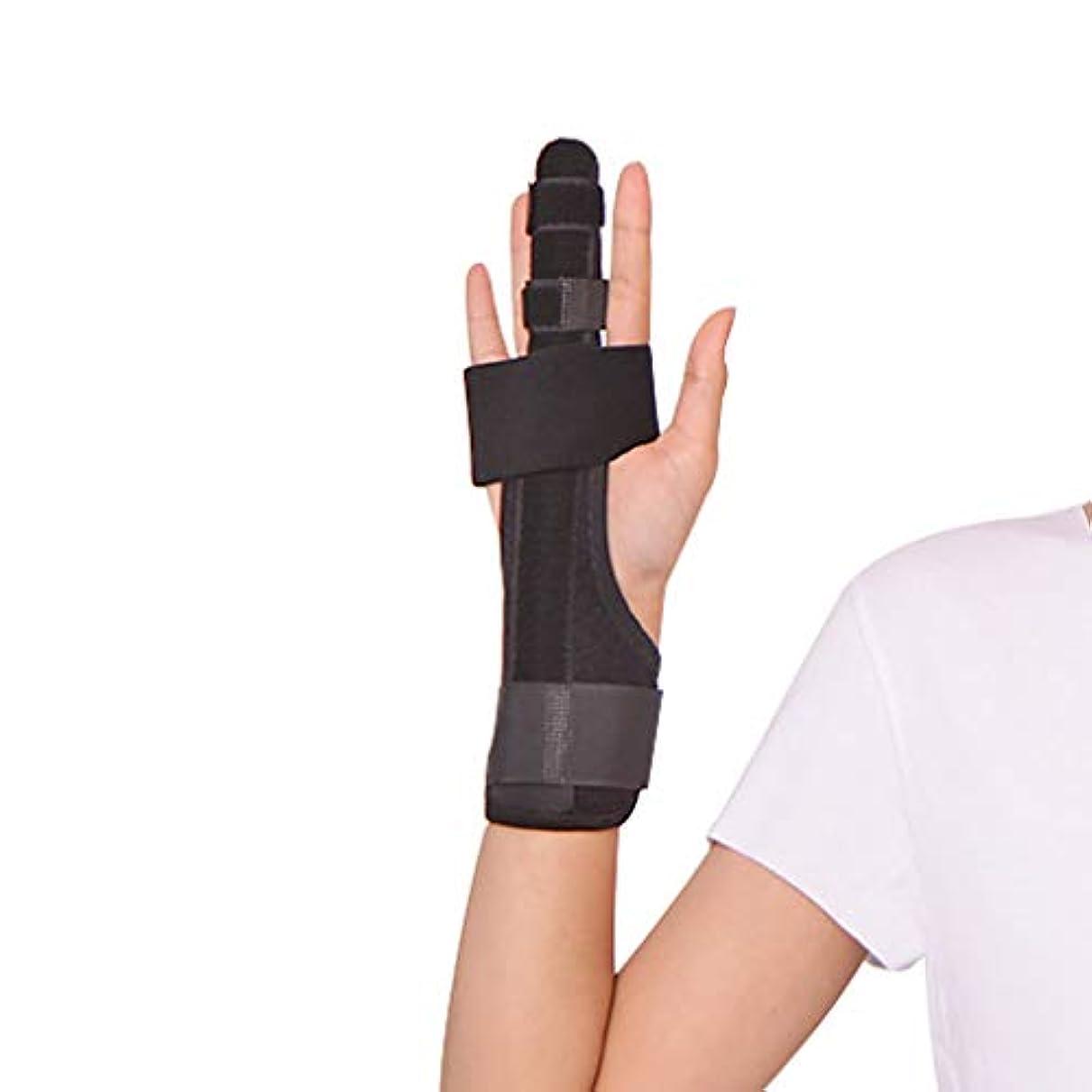 障害者第九溶岩指の添え木中指の手首の手首のけがの回復添え木の分離器手の矯正器手根管関節の痛みの救済矯正器 - あらゆる年齢の女性,L