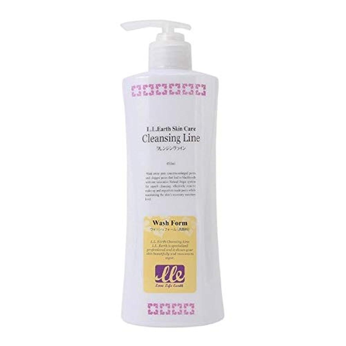 感嘆符寸前オプションLLE ウォッシュフォーム 業務用 450ml 洗顔 洗顔料 クリームタイプ アロエベラ