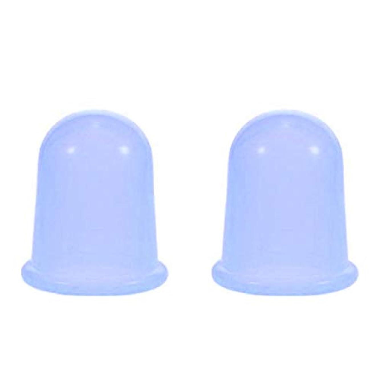 予防接種するグリーンランド思春期のスライドカッピング シリコンカップ 2個セット ブルー ボディ 身体用 吸い玉 自宅 セルフケア 【スリムバーン】