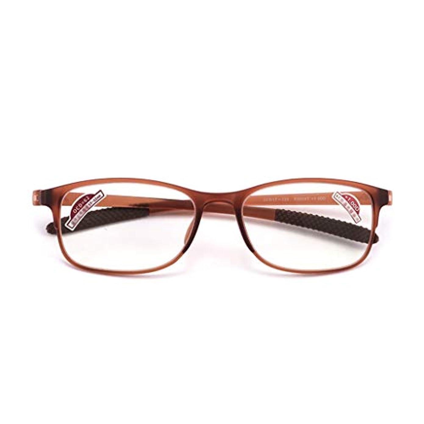 宣伝アトミック抜け目がないLCSHAN マルチフォーカスレトロ老眼鏡アンチブループログレッシブ男性と女性のインテリジェントズーム (Color : Brown, Size : 300 degrees)
