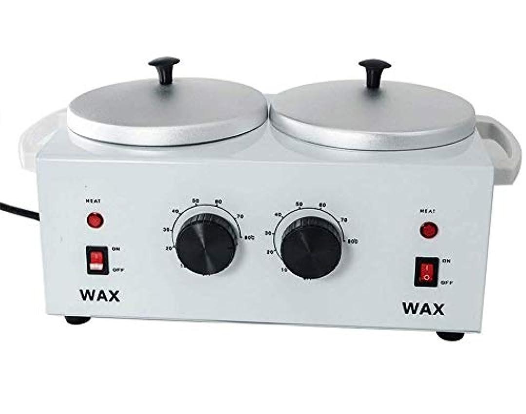 さまようしかしペアすべてのWAXS(ソフト、ハード、パラフィン)のためのワックスヒーターダブルポットワックスウォーマー電気プロフェッショナルデュアルプロサロンホットパラフィン脱毛ツール
