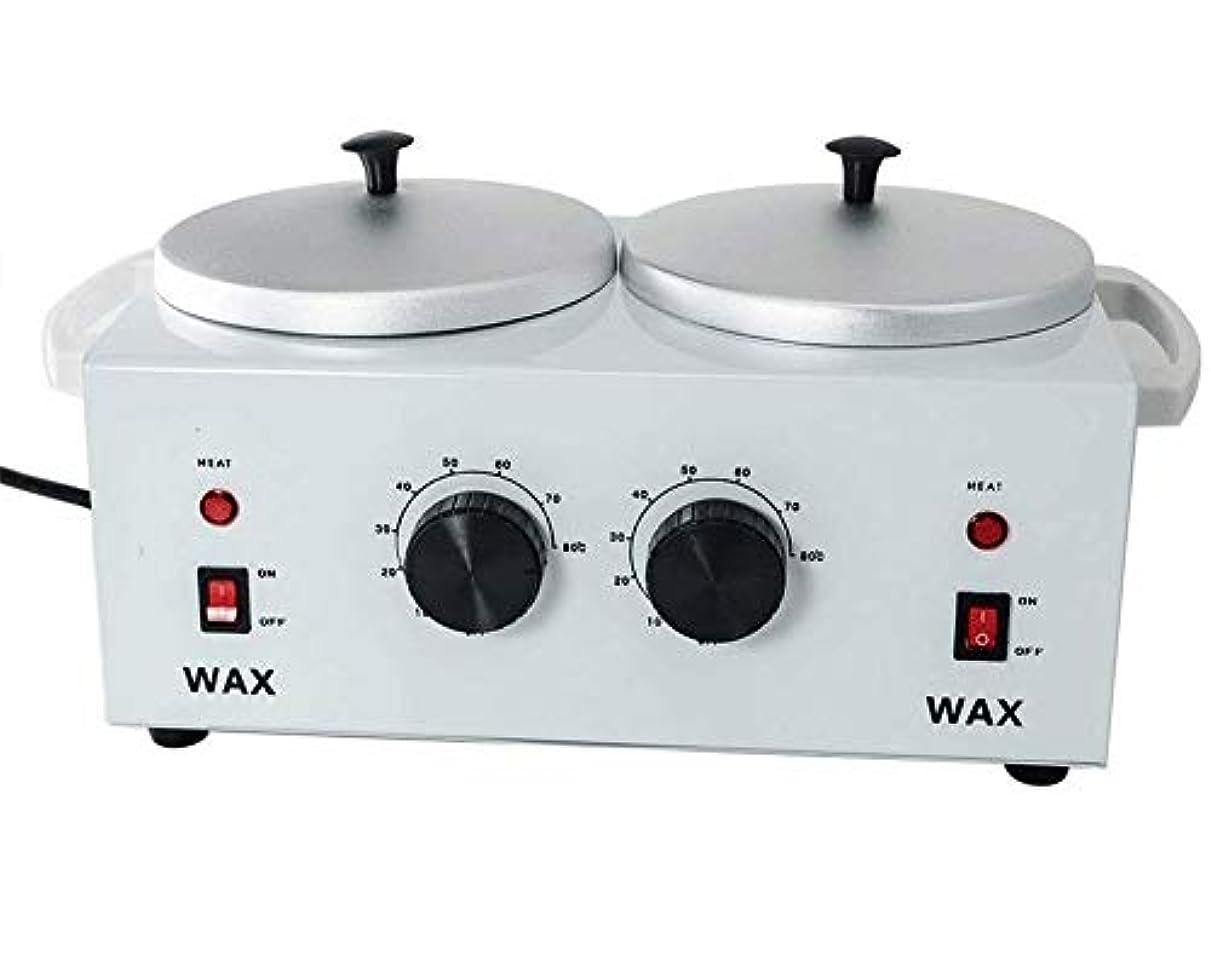 黙認するギャップ褐色すべてのWAXS(ソフト、ハード、パラフィン)のためのワックスヒーターダブルポットワックスウォーマー電気プロフェッショナルデュアルプロサロンホットパラフィン脱毛ツール