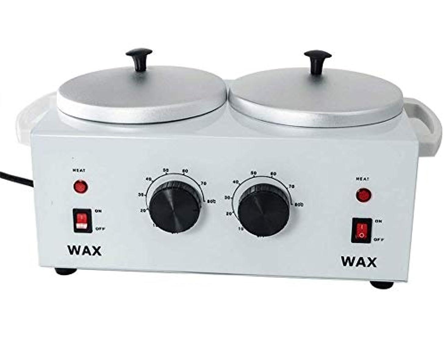 ペインティング効果反対したすべてのWAXS(ソフト、ハード、パラフィン)のためのワックスヒーターダブルポットワックスウォーマー電気プロフェッショナルデュアルプロサロンホットパラフィン脱毛ツール