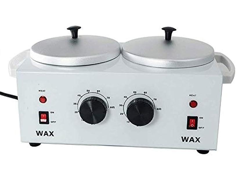 短くするアウトドア癌すべてのWAXS(ソフト、ハード、パラフィン)のためのワックスヒーターダブルポットワックスウォーマー電気プロフェッショナルデュアルプロサロンホットパラフィン脱毛ツール