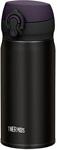 サーモス 水筒 真空断熱ケータイマグ 【ワンタッチオープンタイプ】 350ml オールブラック JNL-352 ALB