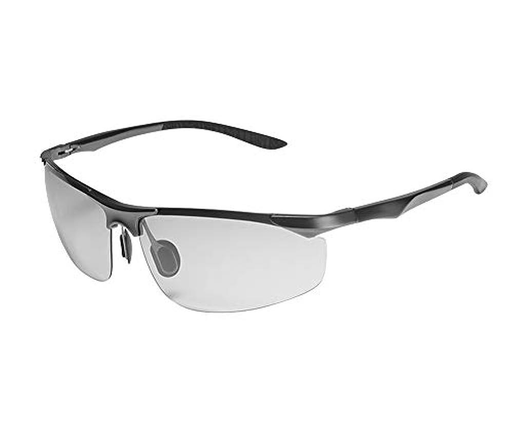 本立方体誠意[RADISSY] ドライブサングラス メンズ 偏光 調光 レンズ スポーツ ゴルフ 野球 UVカット