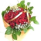赤系のバラの花束 100本カスミソウ付き(生花)【お祝い・記念日・誕生日・フラワーギフト・バラ】