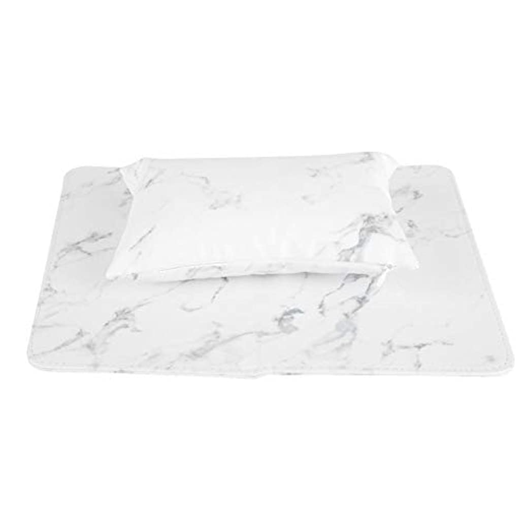 ネイルアートリムーバブルハンドピロー折りたたみ式クッション(白)