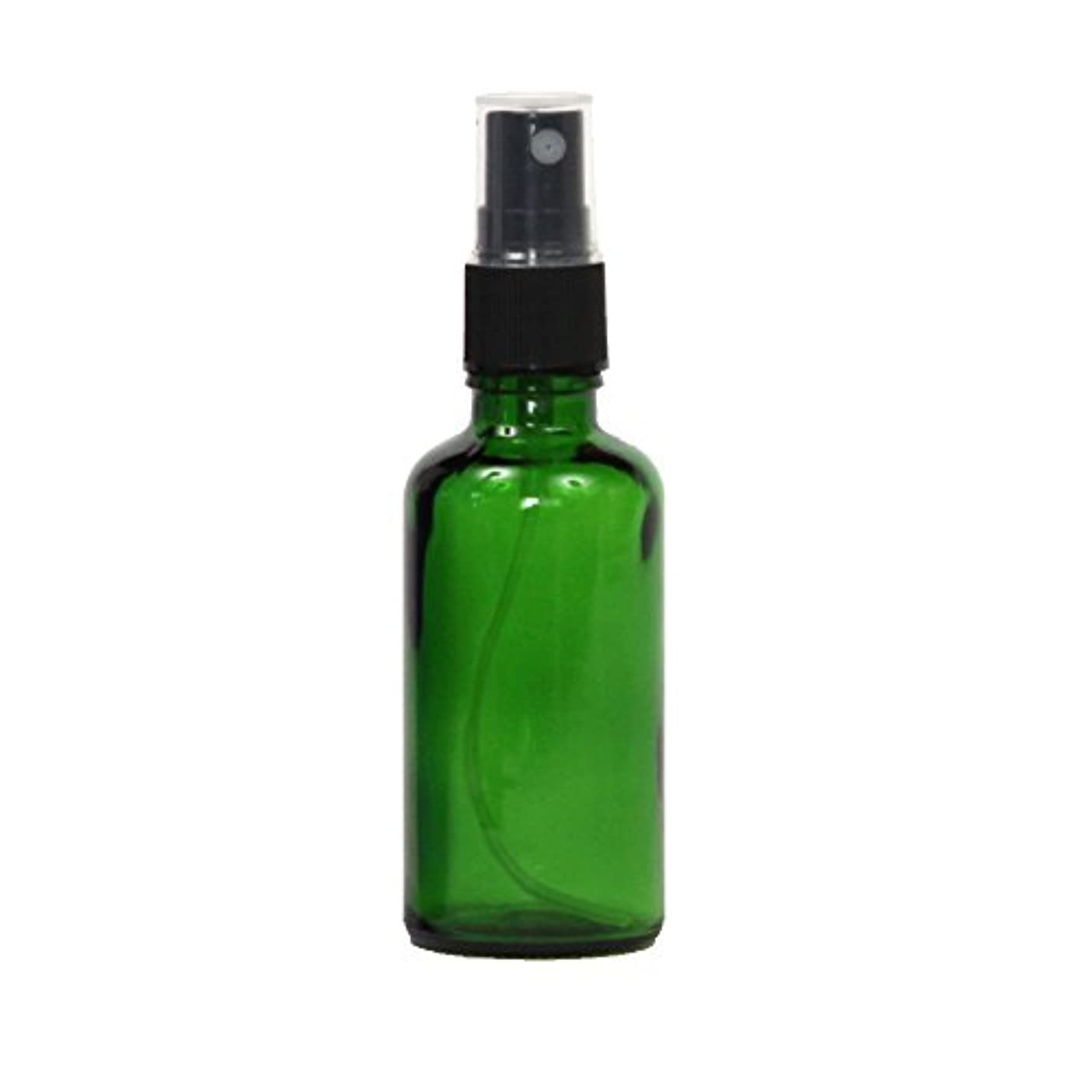 盆講堂媒染剤スプレーボトル容器 ガラス瓶 50mL 遮光性グリーン ガラスアトマイザー 空容器gr50g