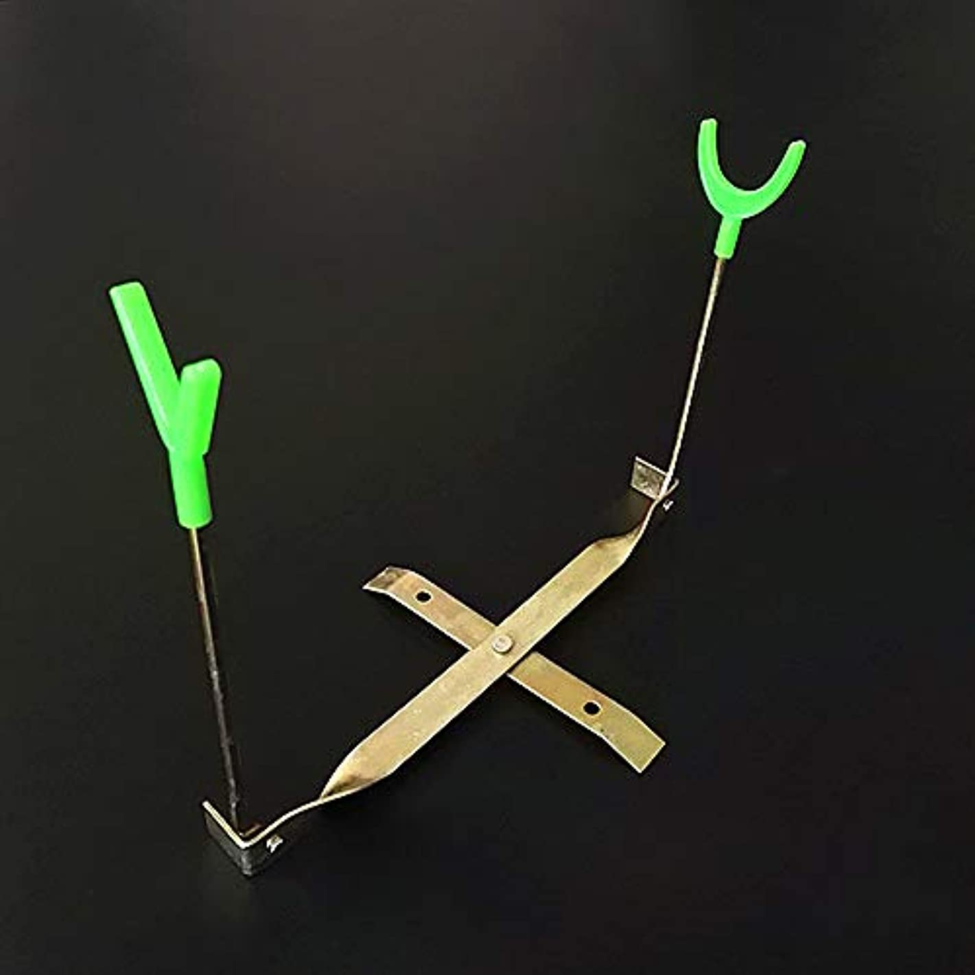 メタリック持っているエジプトTOPmountain Kicode 耐久性 アイスフィッシングブラケット ダブルヘッドブラケット 穴釣り 冬の釣り スポーツ 銅 ポータブル