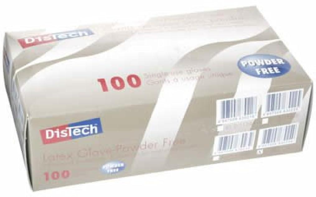 内向き基準契約するD-1124DディステックラテックスグローブPF ポリマー加工 L寸 100枚/箱