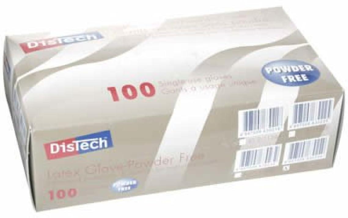 反対に征服者質素なD-1124DディステックラテックスグローブPF ポリマー加工 L寸 100枚/箱