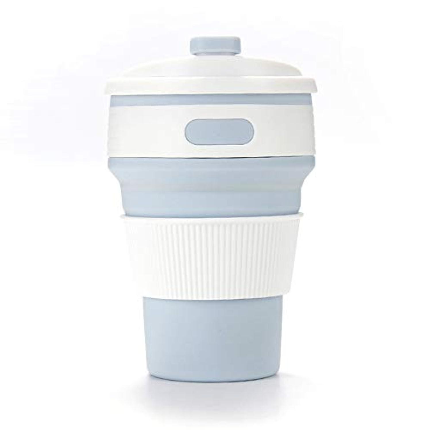 恐怖応じる合図折りたたみシリコンコーヒーカップ再利用可能な折り畳みマグカップポータブルトラベルカップ漏れ防止ウォーターカップホームオフィス旅行 (色 : ライト?ブラウン)