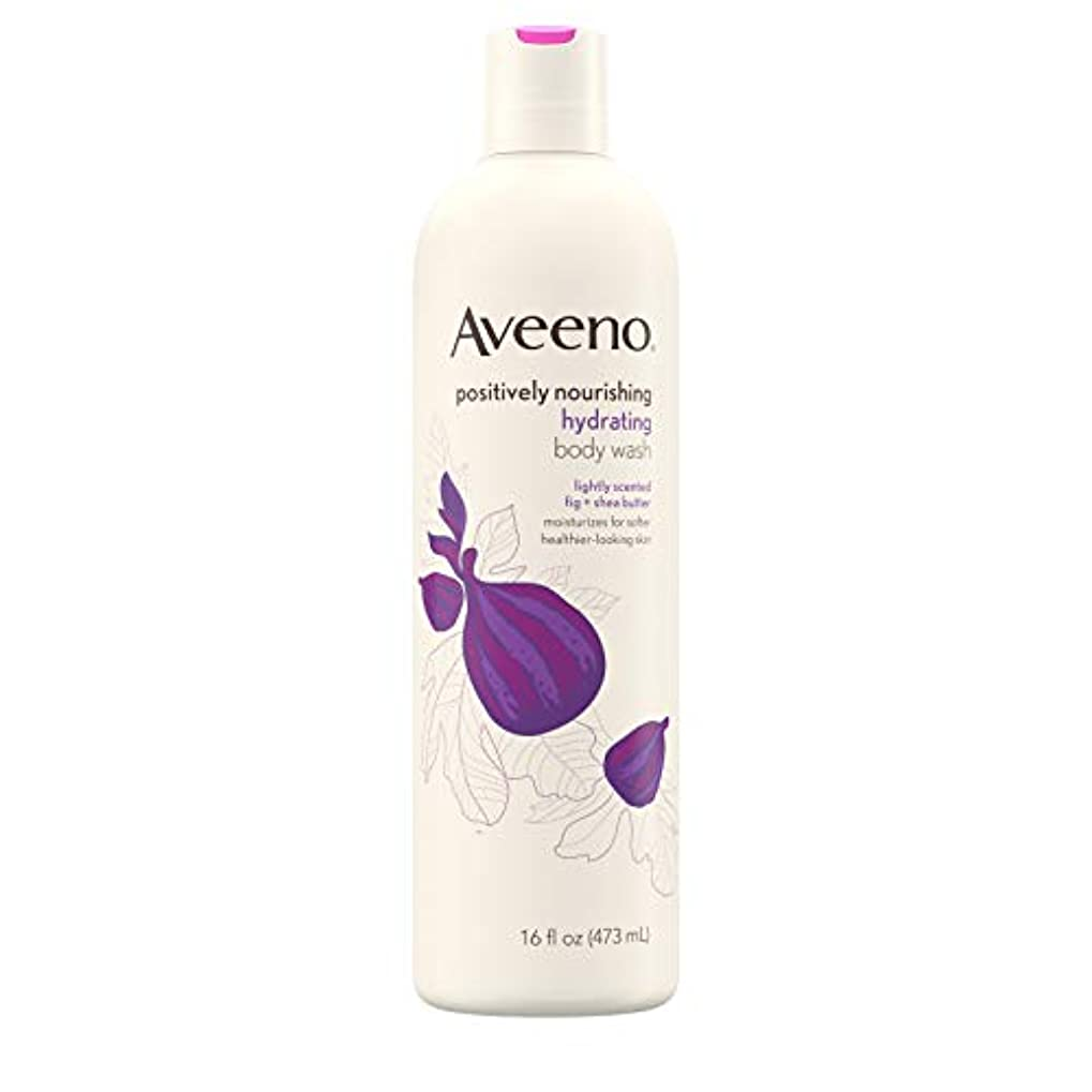 ストレスの多いクッション尽きるNew Aveeno Positively Nourishing New Aveeno Ultra Hydrating Body Wash, 470ml