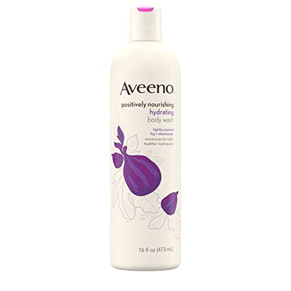 ハリウッド場合化学New Aveeno Positively Nourishing New Aveeno Ultra Hydrating Body Wash, 470ml