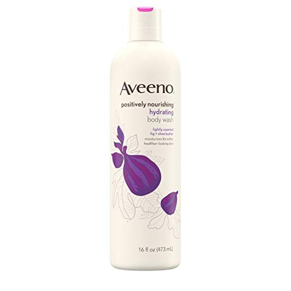 後ろにカッター粒New Aveeno Positively Nourishing New Aveeno Ultra Hydrating Body Wash, 470ml