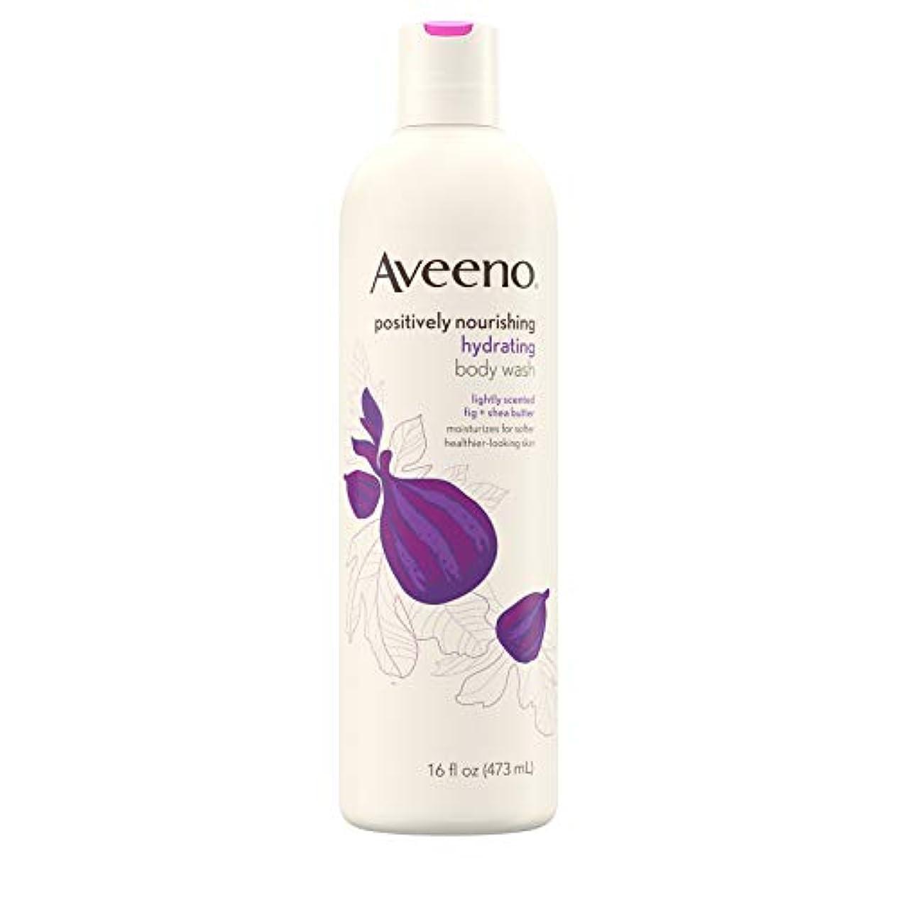 最小化するリファイン矩形New Aveeno Positively Nourishing New Aveeno Ultra Hydrating Body Wash, 470ml