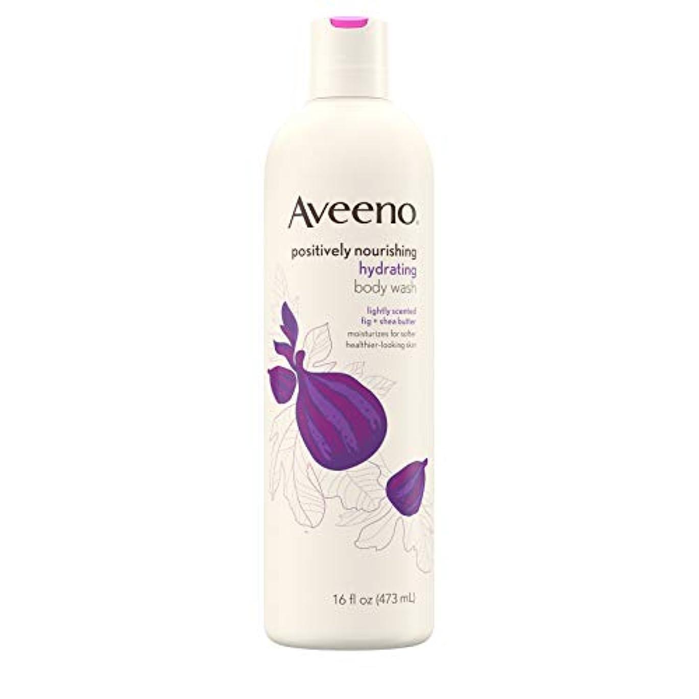 持っている最終的にひまわりNew Aveeno Positively Nourishing New Aveeno Ultra Hydrating Body Wash, 470ml