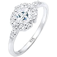 Elli Women Engagement Cubic Zirconia Stones Romantic 925 Sterling Silver Ring