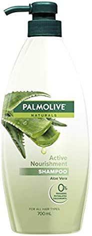 Palmolive Naturals Hair Shampoo Active Nourishment Aloe Vera for All Hair Types No Parabens 700mL