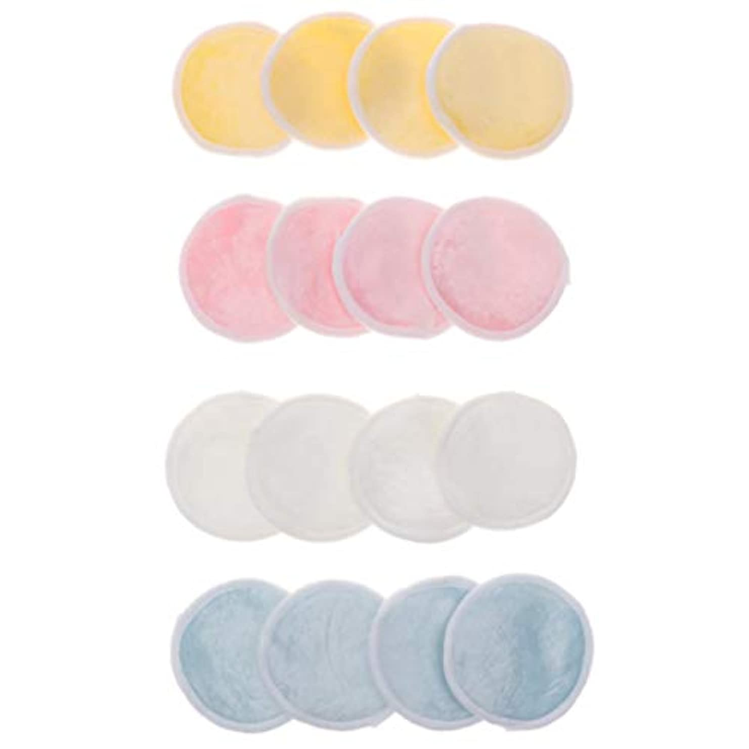 適度に甘くする環境に優しい16個 クレンジングシート パッド メイク落としコットン 再使用可能 ジッパーメッシュバッグ付 洗える