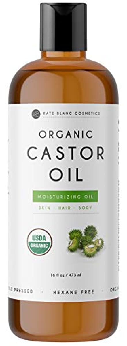白鳥人形コカインOrganic Castor Oil 16 fl.oz. 473 ml Moisturizer oil