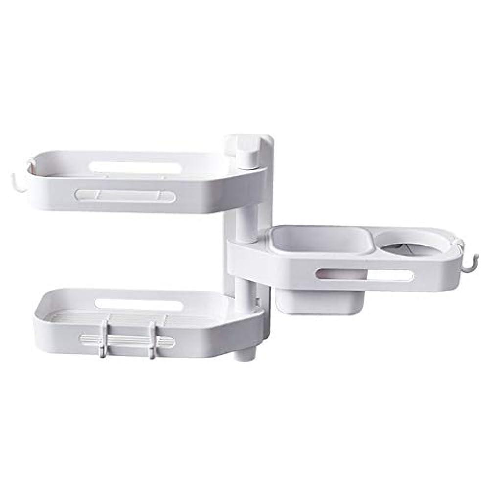 それに応じてマラウイホールドオールCoolTack 3層ソープトレイプラスチック取り外し可能な収納オーガナイザーを回転させるソープディッシュ接着剤ホルダー