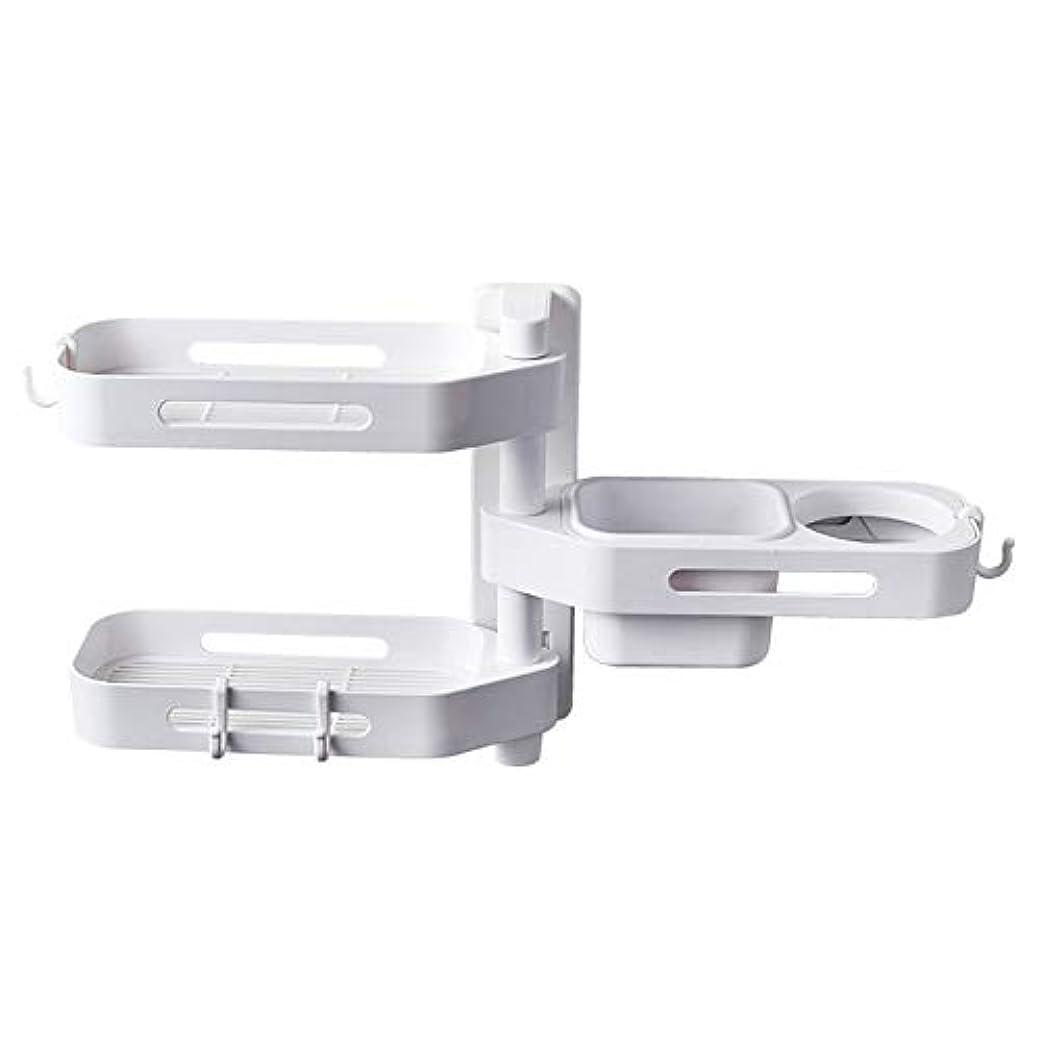 未払い置き場ブレークCoolTack 3層ソープトレイプラスチック取り外し可能な収納オーガナイザーを回転させるソープディッシュ接着剤ホルダー