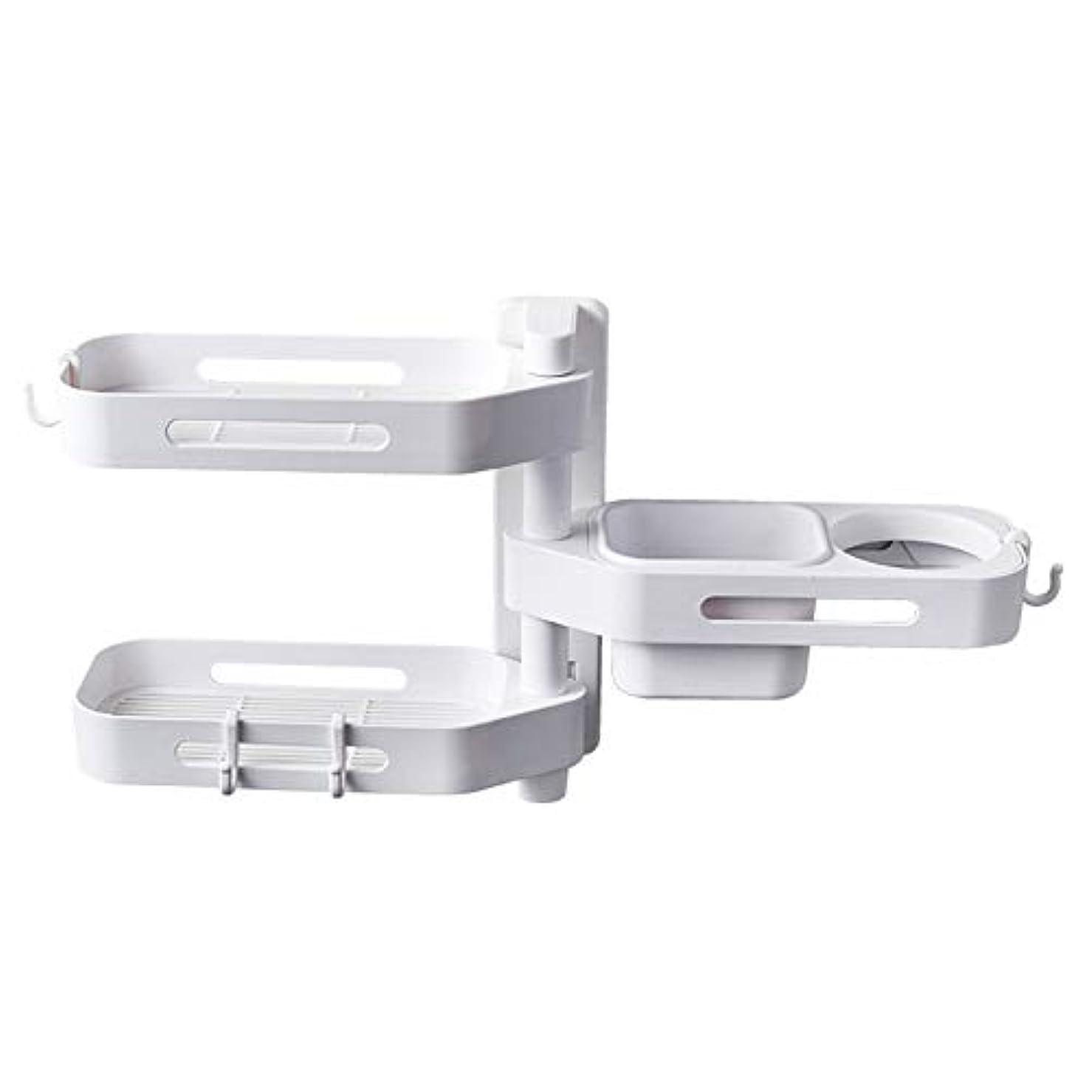 ぶら下がる鏡バストCoolTack 3層ソープトレイプラスチック取り外し可能な収納オーガナイザーを回転させるソープディッシュ接着剤ホルダー