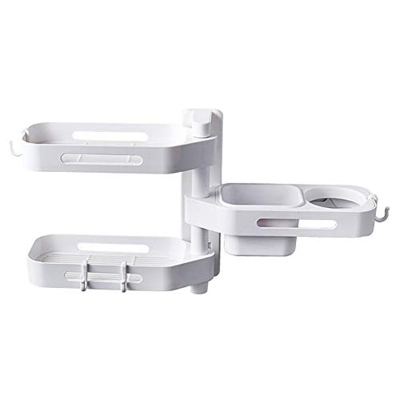 ペデスタルペナルティ非互換CoolTack 3層ソープトレイプラスチック取り外し可能な収納オーガナイザーを回転させるソープディッシュ接着剤ホルダー