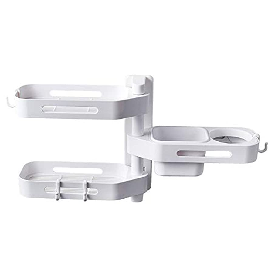 信頼性ジョリーゆるいCoolTack 3層ソープトレイプラスチック取り外し可能な収納オーガナイザーを回転させるソープディッシュ接着剤ホルダー